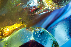 Abstract background. Glass drops of water. Bright colorful abstract background. Glass and drops of water. Closeup Royalty Free Stock Image
