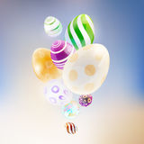 Abstract background with glass eggs. Stock Images
