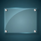 Abstract background with glass framework. Vector illustration Stock Photography