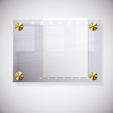 Abstract background with glass information board. Illustration for your design stock illustration