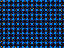 Abstract background of glass luminous balls. 3D Stock Photo