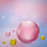 Abstract background with glass spheres. Abstract background with rosy and yellow glass spheres Royalty Free Stock Image
