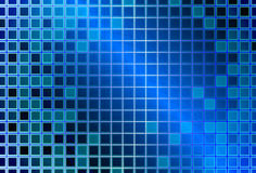 Abstract background with glass squares. Abstract blue background with transparent glass squares royalty free illustration