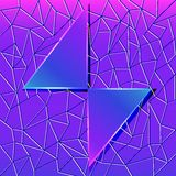 Abstract background with glass triangles and polygonal texture. Illustration abstract background with glass triangles and polygonal texture Royalty Free Stock Images
