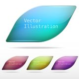 Abstract background glass vector speech bubble Royalty Free Stock Photo