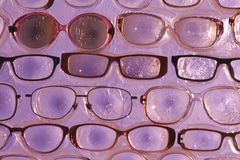 Abstract background glasses for eyes Stock Image