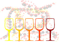 Abstract background with a glasses of wine Stock Image