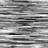Abstract Background with Glitch Effect. Distortion, seamless texture, random horizontal black and white lines for design concepts, posters, banners, web Stock Photo