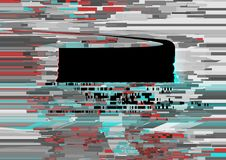 Abstract background with glitch effect. Modern design composition gray, red and emerald contrast color Royalty Free Stock Photo