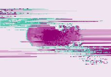 Abstract background with glitch effect. Modern design composition pink and emerald contrast color stock illustration