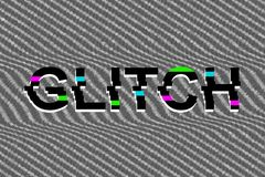 Abstract background with glitch effect stock illustration