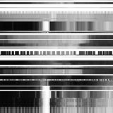 Abstract Background with Glitch Texture. Glitch abstract background with distortion effect, bug, error, random horizontal black and white, monochrome lines for Royalty Free Stock Photos