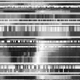 Abstract Background with Glitch Texture. Glitch abstract background with distortion effect, bug, error, random horizontal black and white, monochrome lines for Royalty Free Stock Photo