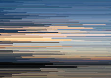 Abstract background with glitched horizontal stripes, stream lines. Concept of aesthetics of signal error. Stock Photography