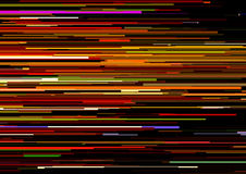 Abstract background with glitched horizontal stripes, stream lines. Concept of aesthetics of signal error. Stock Photos