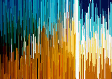 Abstract background with glitched vertical stripes, stream lines. Concept of aesthetics of signal error. Royalty Free Stock Photography