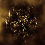 Abstract background. Glittering lights seen through an abstract drawing on foggy window. Colorful texture for Christmas, New Year and other holidays. Blurry Royalty Free Stock Photos