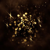 Abstract background. Glittering lights seen through an abstract drawing on foggy window. Colorful texture for Christmas, New Year and other holidays. Blurry Stock Images