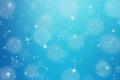 Abstract background with glittering star. And bokeh Stock Photo