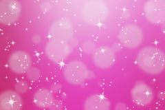 Abstract background with glittering star. And bokeh Royalty Free Stock Photo