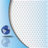 Abstract background with globe Stock Image