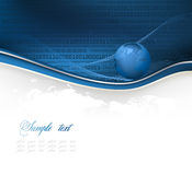 Abstract background with globe. Abstract blue and white background with globe and map vector illustration