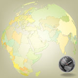 Abstract background with globe Royalty Free Stock Photography