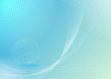 Abstract background with globe Stock Photography