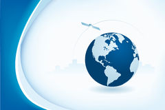 Abstract background with globe. Abstract business background with globe and city stock illustration