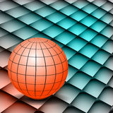 Abstract background Globe on board. Fractal abstract background of retro circles Stock Images