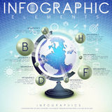 Abstract background with globe and icons infographic elements Stock Photos