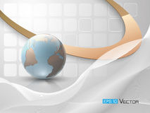 Abstract background with globe Royalty Free Stock Images