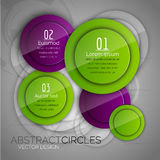 Abstract background with glossy circles. Glossy buttons. Vector Royalty Free Stock Photos