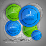 Abstract background with glossy circles. Glossy buttons. Vector Royalty Free Stock Images