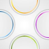 Abstract background with glossy circles Stock Photo