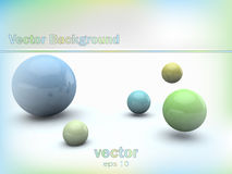 Abstract background with glossy 3d balls. Flowing across the gray background Royalty Free Stock Photography