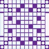 Abstract background with glossy 3D squares and rhombuses. Abstract geometric background with 3D squares and rhombuses over violet background. creative futuristic Stock Images