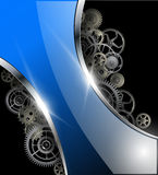 Abstract background. Glossy with gears, vector illustration Stock Image