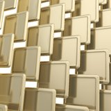 Abstract background of glossy golden square plates. Abstract copyspace background made of glossy golden square plates Royalty Free Stock Photos