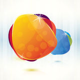 Abstract background with glossy speech bubbles. Glossy speech bubble vector background Royalty Free Stock Photography