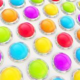 Abstract background of glossy spheres over surface Royalty Free Stock Images