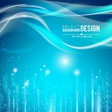 Abstract background. Abstract background of glow circuit. Vector illustration Royalty Free Stock Photos