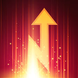 Abstract background with glowing arrow Stock Photo