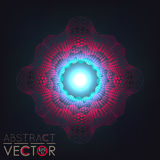 Abstract background glowing ball. Elements for your project. Guilloche. Vector Illustration Royalty Free Stock Photos