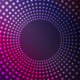 Abstract background of glowing circles Stock Images