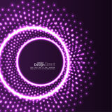 Abstract background with glowing circles stock illustration
