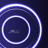 Abstract background with glowing circles Stock Image