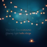 Abstract background. Glowing light bulbs design Royalty Free Stock Images