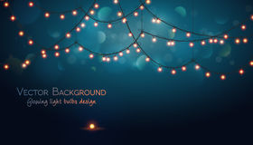 Abstract background. Glowing light bulbs design. Abstract background. Vector illustration Stock Image
