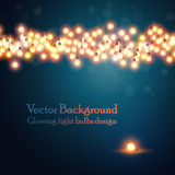 Abstract background. Glowing light bulbs design. Abstract background. Vector illustration Royalty Free Stock Photos